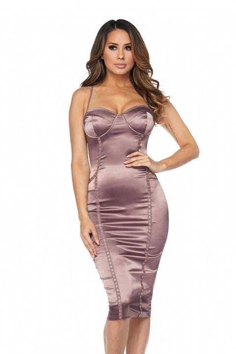 Amanda Satin Dress - Dress - Marsia
