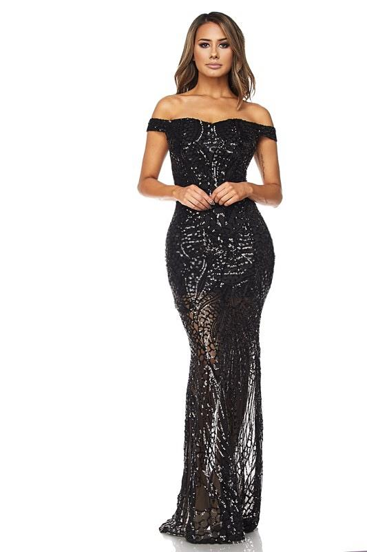 Kelese Off The Shoulder Sequins Gown