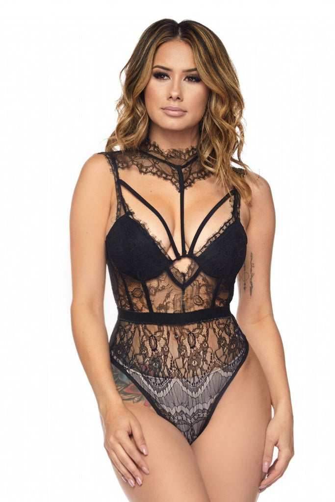Black Baby Doll Bodysuit