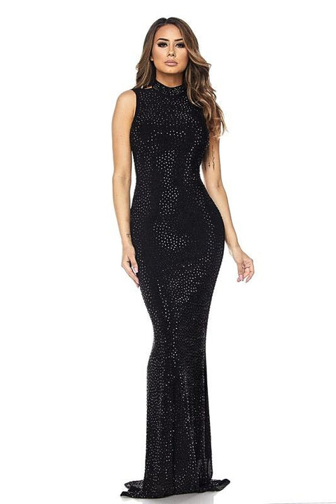 Selena Floor Length Sequins Gown - Dress - Marsia