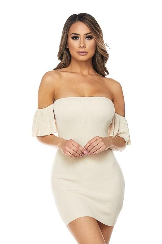 Klarisa Ruffle Sleeve Mini Dress - Dress - Marsia