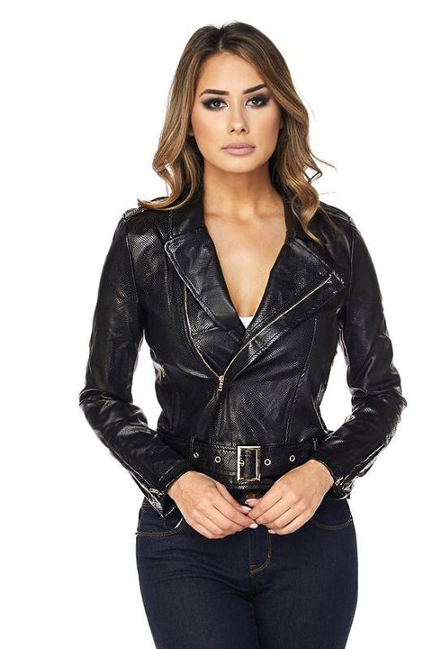 Berlyn Faux Leather Moto Jacket
