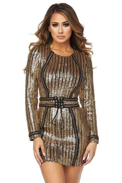 Bey Sequins Dress - Dress - Marsia