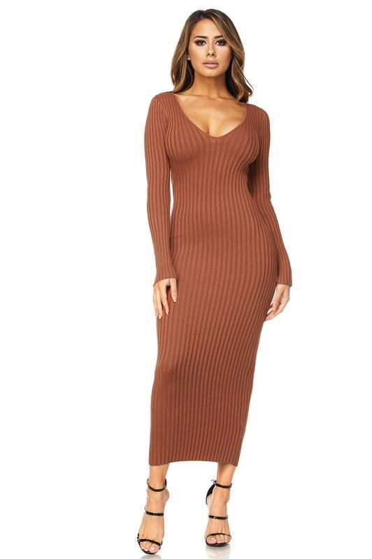 ... Kenya Ribbed Sweater Midi Dress - Dress - Marsia ... 5c6d113b5