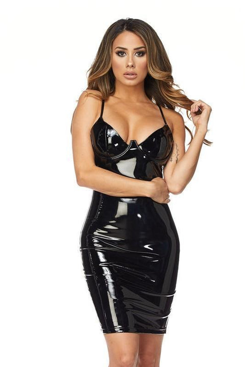 Lexi Latex Dress - Dress - Marsia