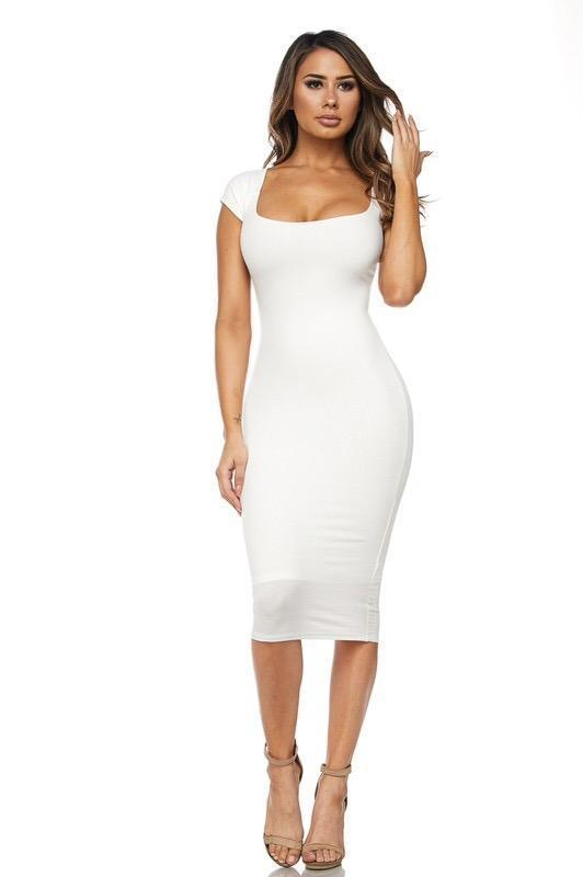 Nikki Bodycon Midi Dress - Dress - Marsia
