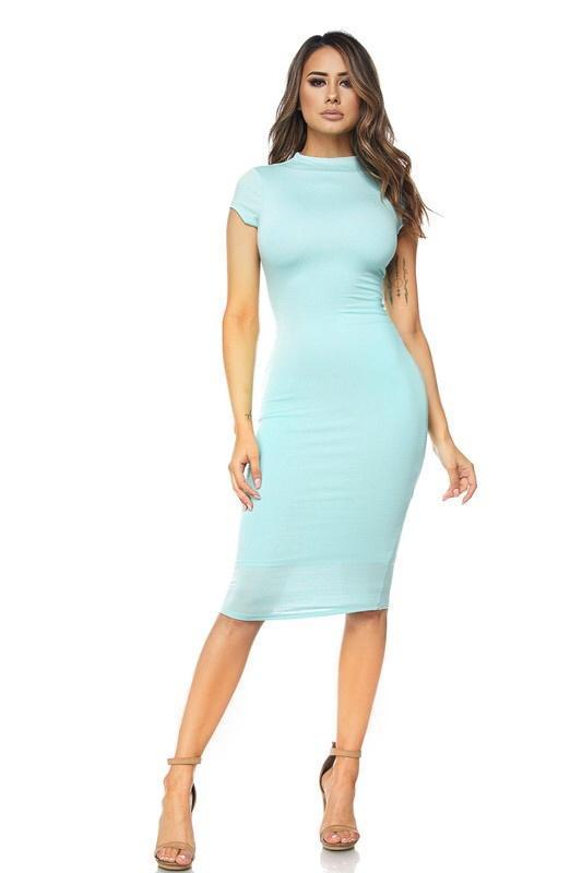 Sheana Short Sleeve Midi Dress - Dress - Marsia