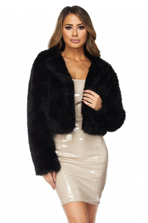 Black Never Fur-Get Me Jacket - Jackets - Marsia