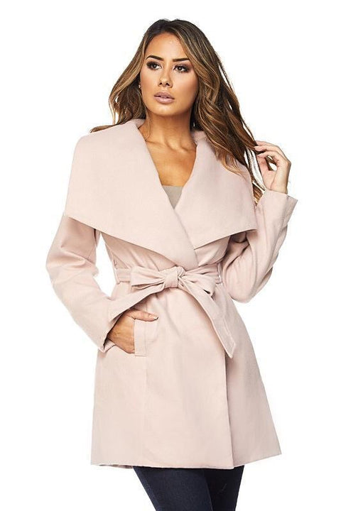 Valentina Faux Wool Trench Coat - Jackets - Marsia