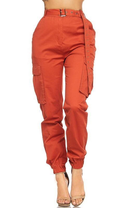 Pants - Melika Belted Cargo Pants