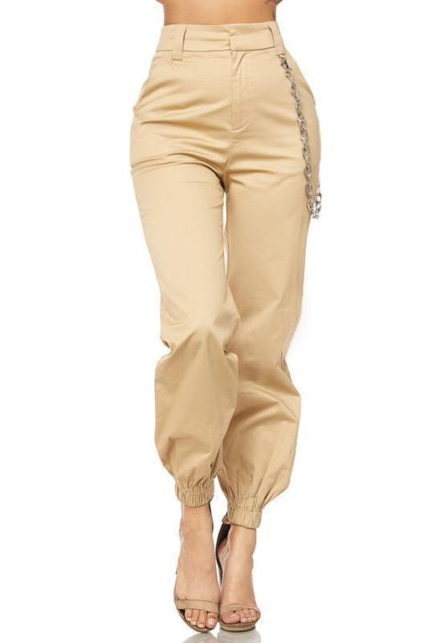Pants - Talah Jogger Style Pants With Chain