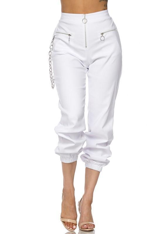 Talah Jogger Style Pants With Chain - Pants - Marsia