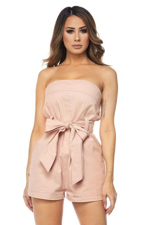 Romper - Little Things Bow Tie Romper