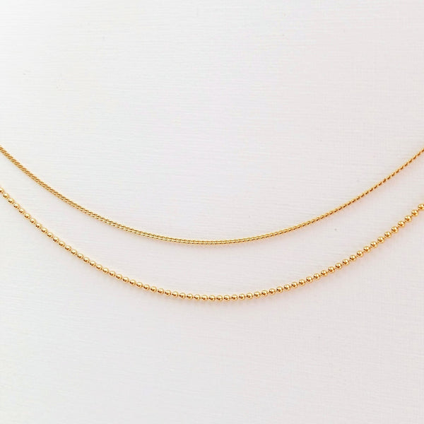 Bare necklace (Silver or Gold plated)