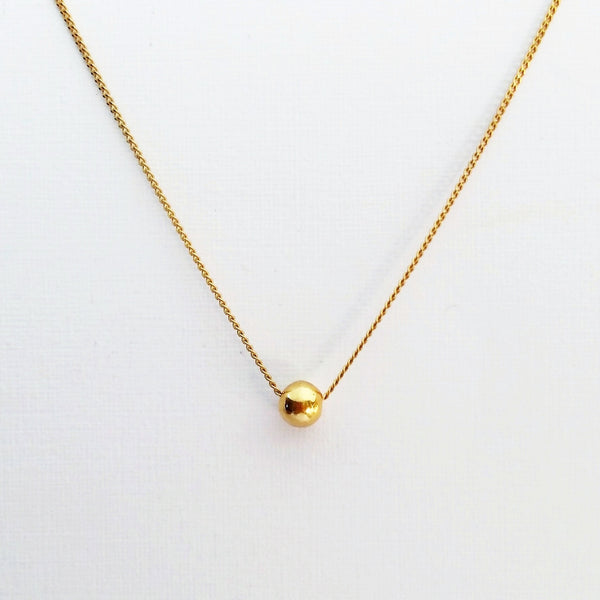 Tiny Orb necklace (Silver or Gold plated)