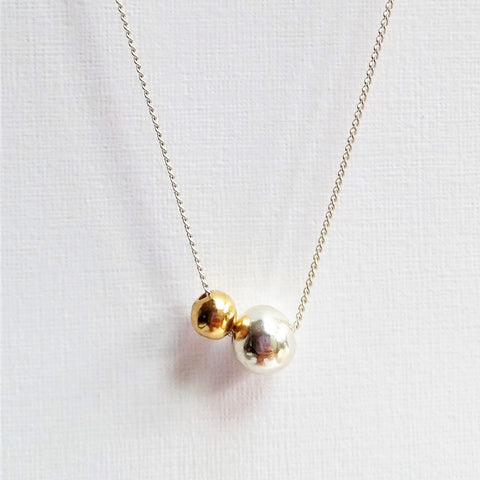 Opulence necklace (Silver with gold or Both silver)