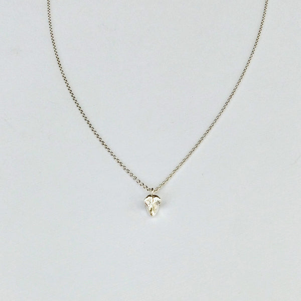 Tiny bone necklace (silver)