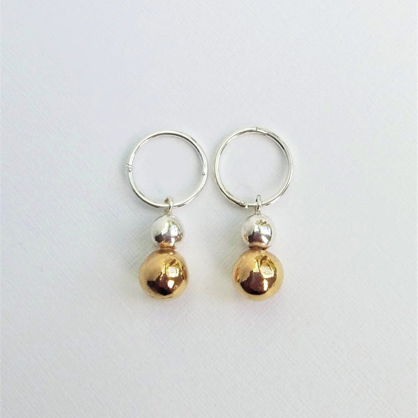 Opulence earrings (Silver with gold or Double silver)