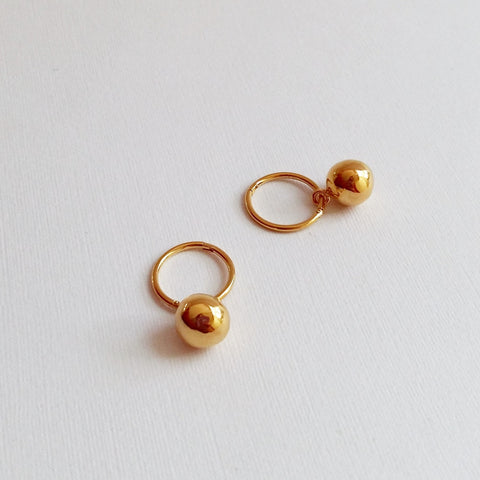 Orb earrings (Silver or Gold plated)