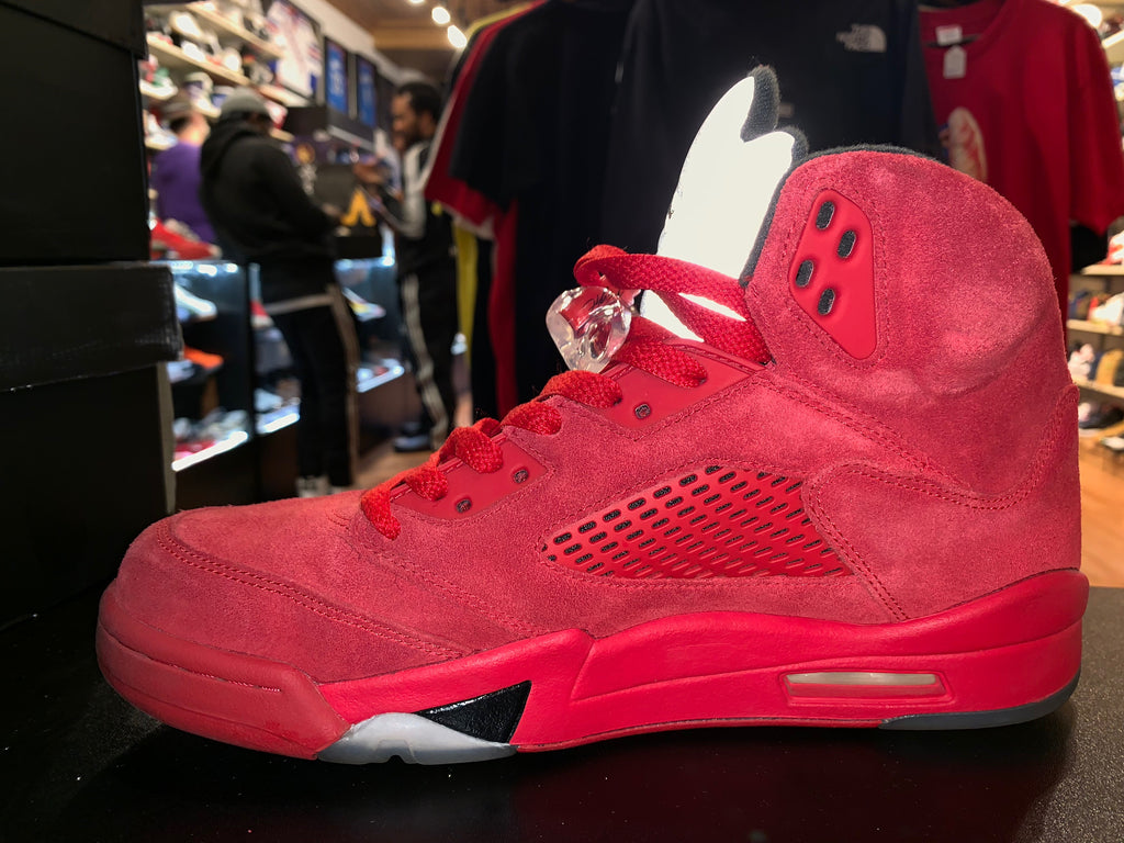 "Size 8.5 Air Jordan 5 ""Red Suede"""