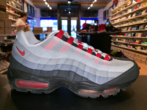 "Size 10 Air Max 95 ""Black/ Grey/ Red"""