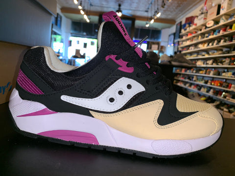 "Size 8.5 Saucony Grid 9000 ""Black Cream Purple"" Brand New"
