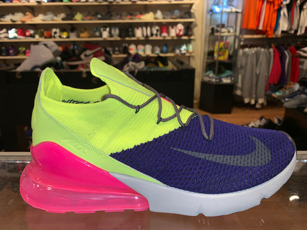 "Size 11.5 Air Max 270 Flyknit ""Purple Volt"" Brand New"