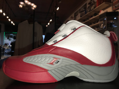 "Size 10 Reebok Answer IV ""Red/White"""