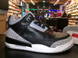 "Size 8 Air Jordan 3 ""Black Cement"""