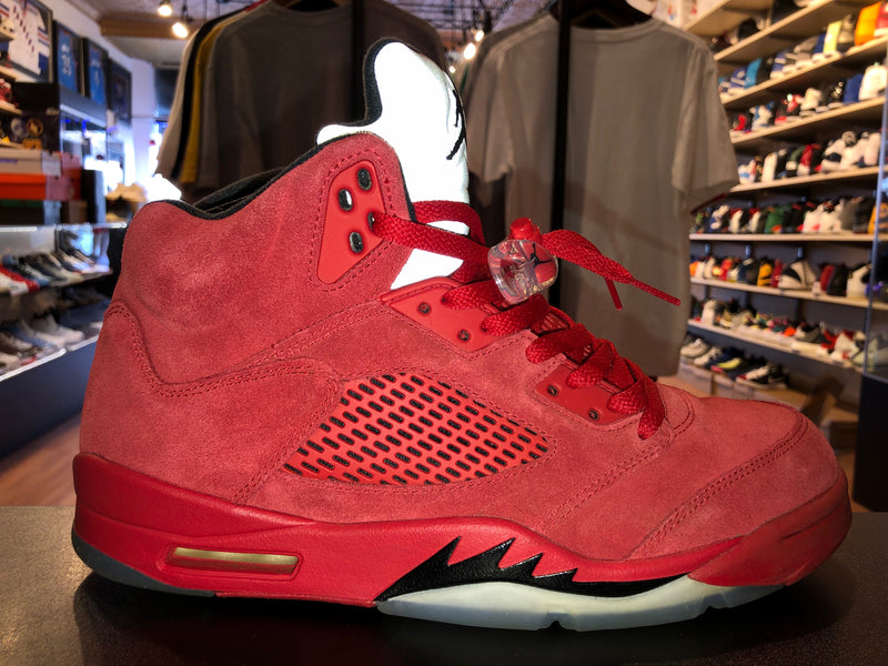"Size 10.5 Air Jordan 5 ""Red Suede"""