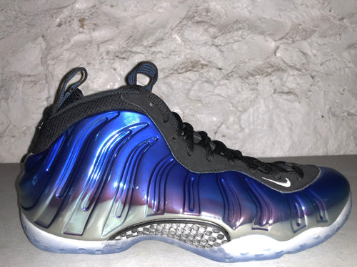 "Size 10 Foamposite One ""Blue Mirror"" Brand New"