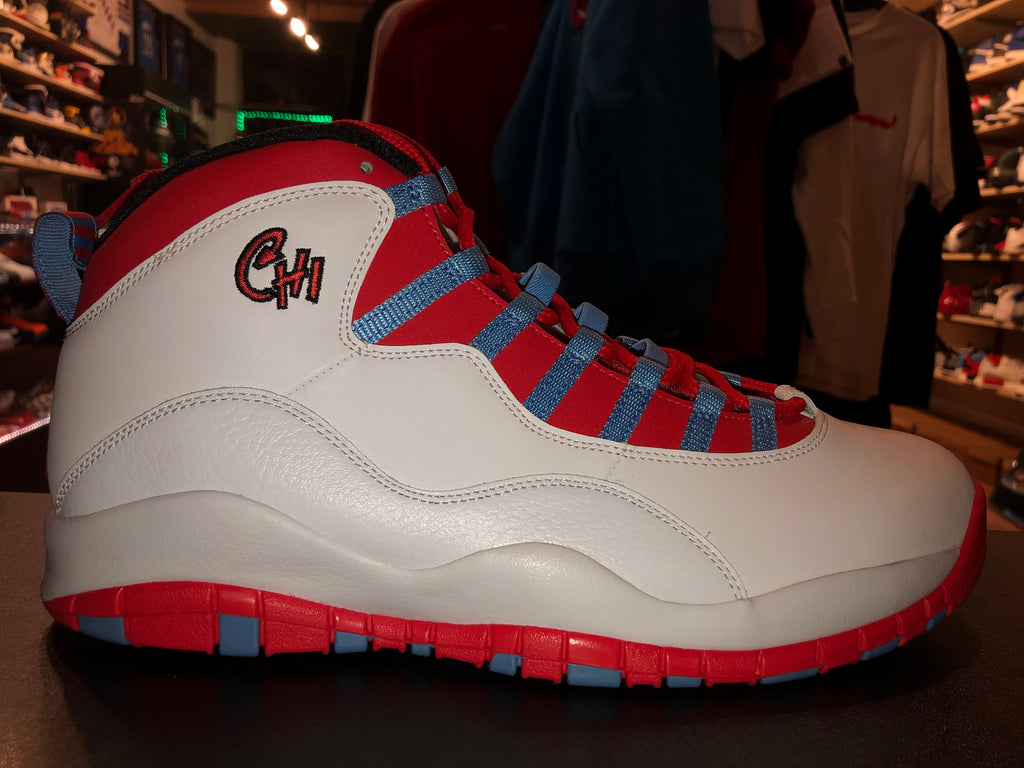 "Size 12 Air Jordan 10 ""Chicago City"" Brand New"