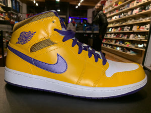 "Size 12.5 Air Jordan 1 Mid ""Lakers"""