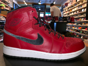 "Size 10 Air Jordan 1 Premier ""Red Gucci"""