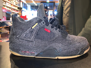 "Size 10.5 Air Jordan 4 ""LEVIs ""Black"""