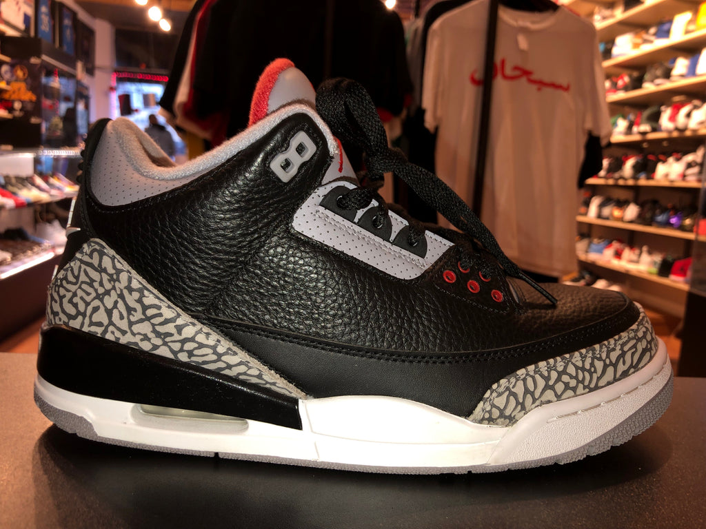 "Size 9.5 Air Jordan 3 ""Black Cement"""