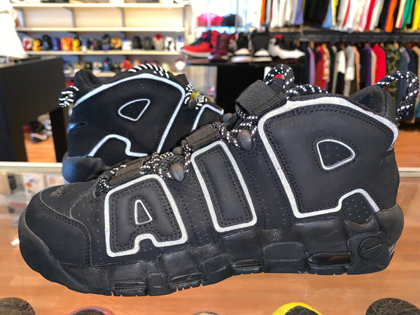 "Size 8 Air More Uptempo ""Black Reflective"""