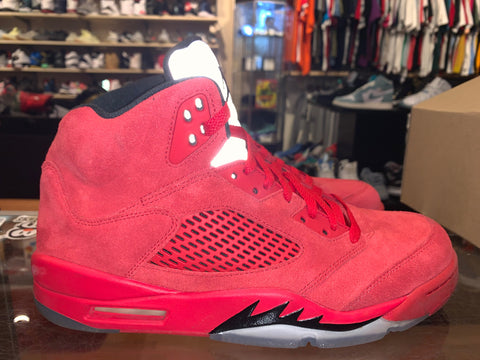 "Size 10 Air Jordan 5 ""Red Suede"""