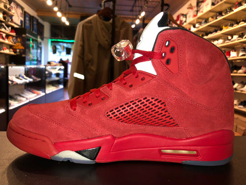 "Size 10 Air Jordan 5 ""Red Suede"" Brand New"