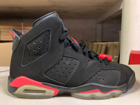 "Size 4.5Y Air Jordan 6 ""Black Infrared"""
