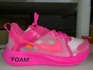 "Size 10.5 Zoom Fly OFF WHITE ""Pink"""