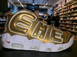 "Size 10 Air More Uptempo Supreme ""Gold"""