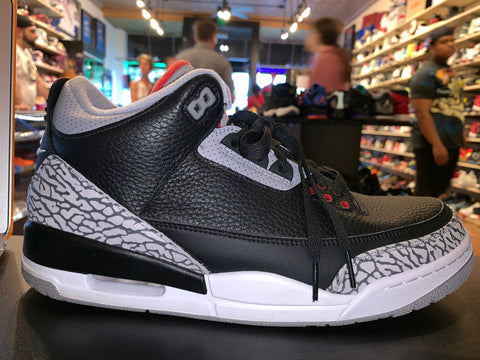 "Size 11.5 Air Jordan 3 ""Black Cement"""