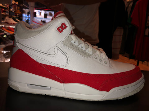 "Size 10 Air Jordan 3 Tinker ""University Red"""