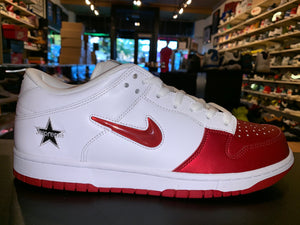 "Size 11.5 SB Dunk Low Supreme Jewel Swoosh ""Red"" Brand New"