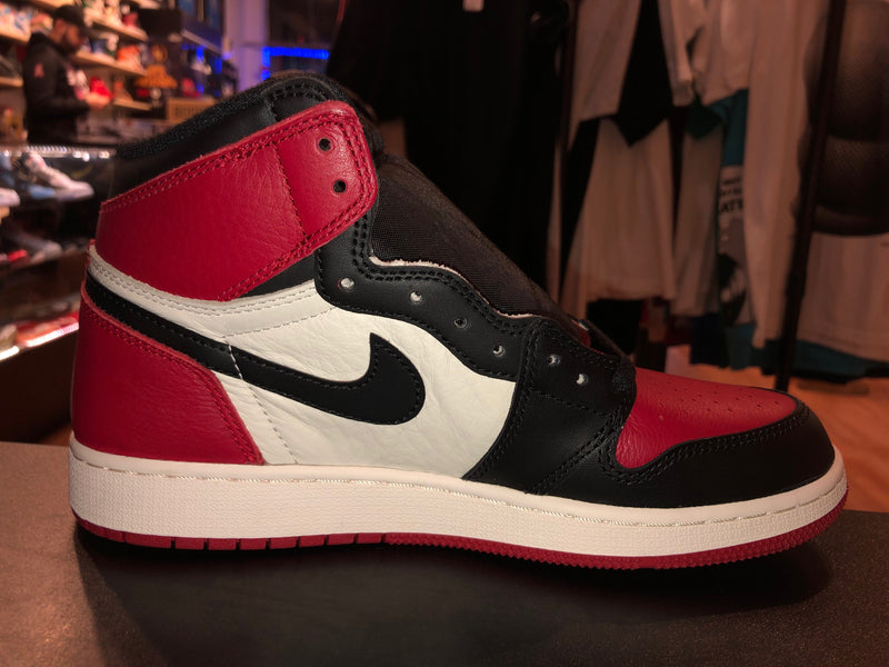 "Size 7Y Air Jordan 1 ""Bred Toe"" Brand new"