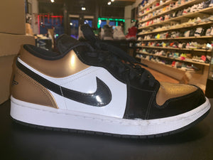 "Size 12 Air Jordan 1 Low ""Gold Toe"""