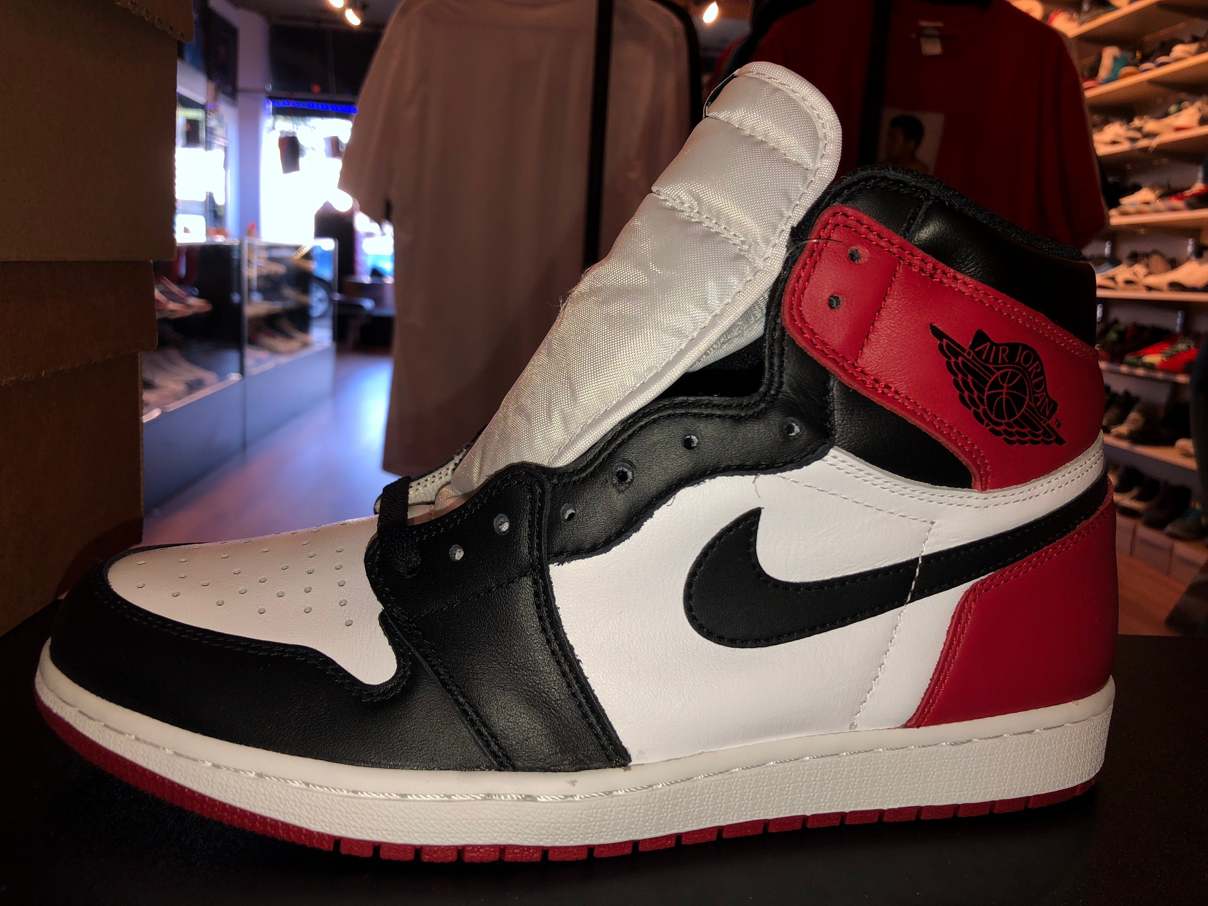 "Size 10.5 Air Jordan 1 ""Black Toe"" Brand New"