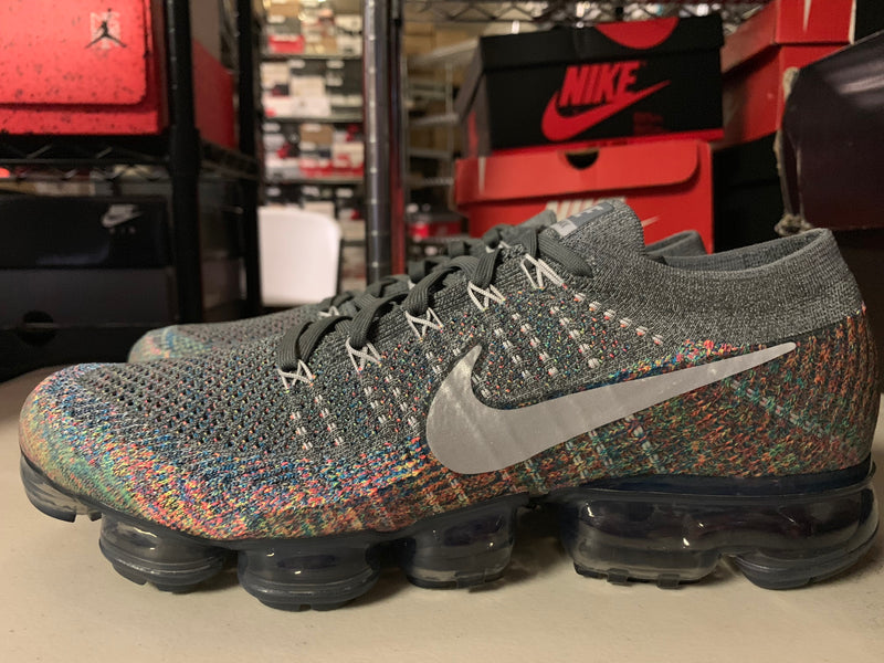 "Size 11 Nike Vapormax Flyknit ""MultiColor"" Brand New"