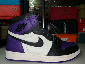 "Size 9 Air Jordan 1 ""Court Purple"" Brand New"